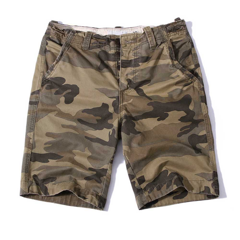 Plus Size Cargo Shorts Men Casual Beachshorts Cotton Camouflage Military Army Style Shorts Loose Baggy Straight Shorts Clothing men s camouflage style lace up slimming elastic shorts