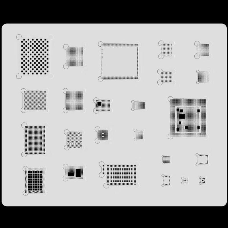 MJ 3D de acero BGA Stencil Kit para iphone XS MAX XR 11 pro max 8 7 6 6s de CPU A10 A11 A12 A13/RAM/potencia/WiFi/U2 IC soldadura plantilla