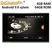 Ouchuangbo Android 9.0 radyo multimedya oynatıcı teyp 8.8 inç A7 A6 C7 2012-2018 ile gps navi kafa ünitesi 4GB + 64GB
