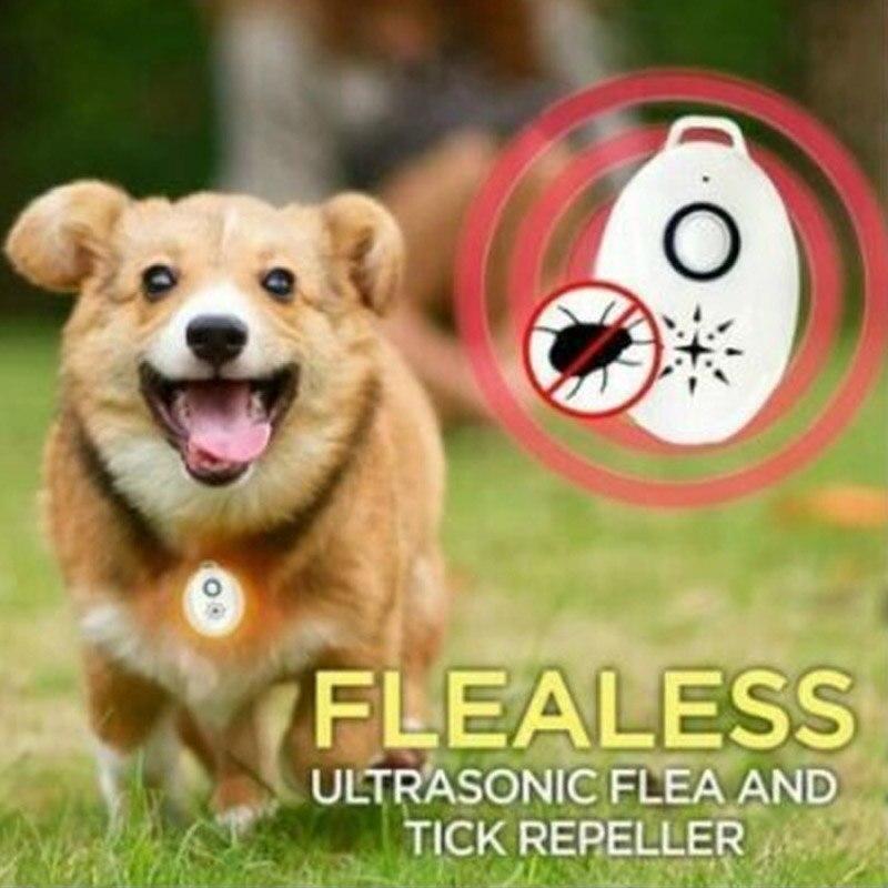 Repelente ultrasónico de pulgas y garrapatas para mascotas, 919 Repelente de cucarachas,...