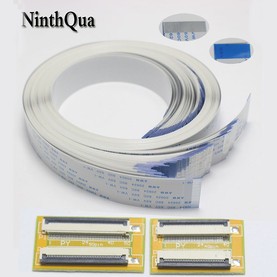 1pcs 6P 8P 10P 12P 14P 16P 20P 22P 24P 26P 30P 34P 40P 5P 15P ZIF 1.0mm Connector Adapter with Extension FFC Cable 600mm