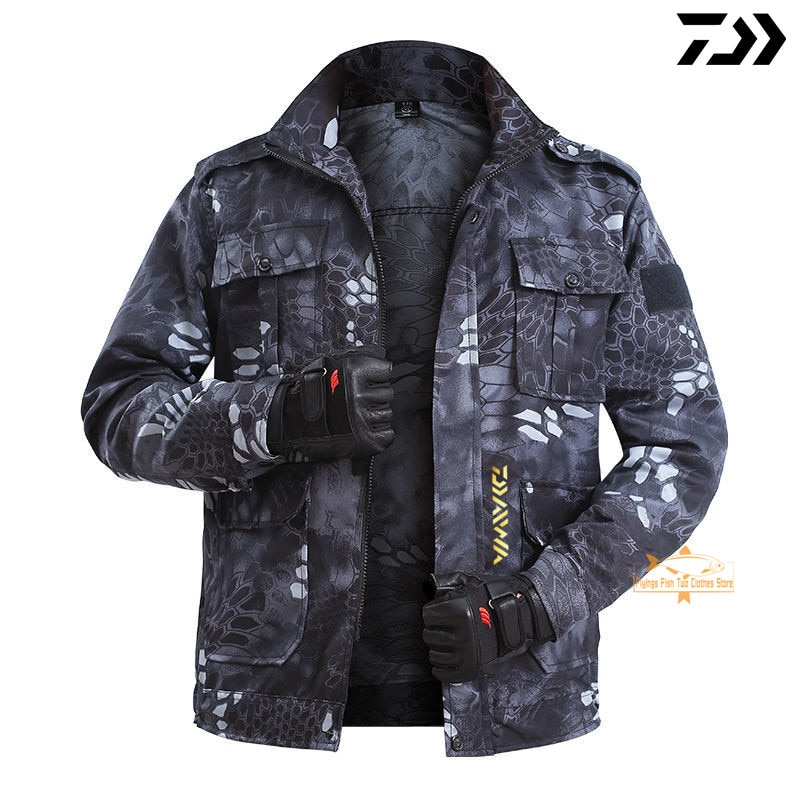 Autumn Summer DAIWA Fishing Clothing Waterproof Windproof Thin Section Man Outdoor Fishing Jackets Softshell Hiking Fishing Suit