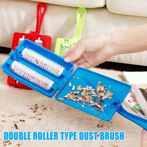 N Plastic Debris Brush Sofa Carpet Pet Hair Brush Cleaning Tools Carpet Cleaning Vacuum Brush Home Cleaning Tool 2-Sides USJ99