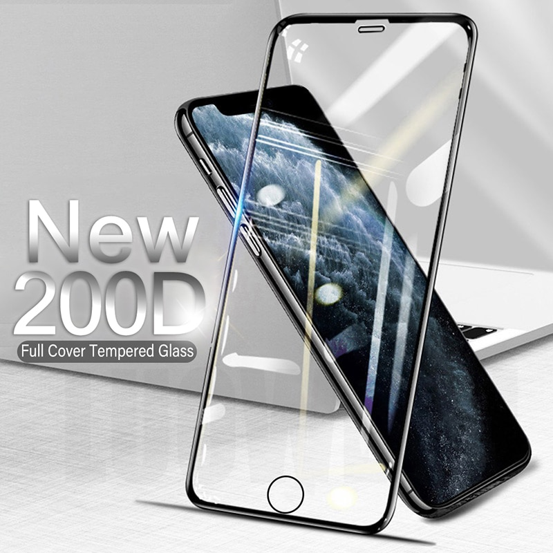 200D Curved Protective Glass For iphone 6 6S 7 8 Plus SE 20 Screen Protector on iphone X XR XS 11 12