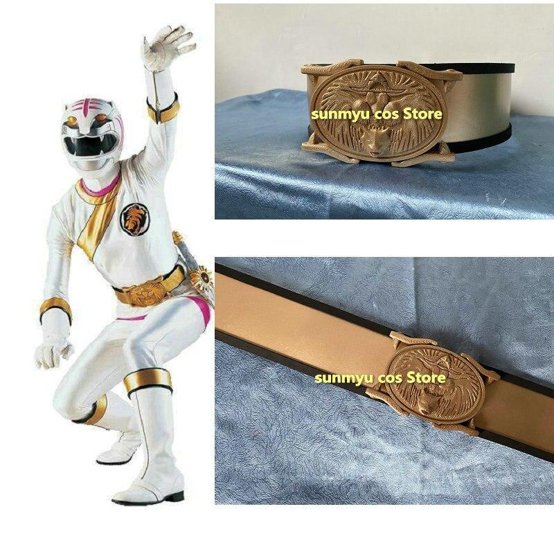 حزام راتينج مطبوع ثلاثي الأبعاد Hyakujuu Sentai gaorange Sae Taiga Furabiijo قاو زي تأثيري أبيض مقاس مخصص