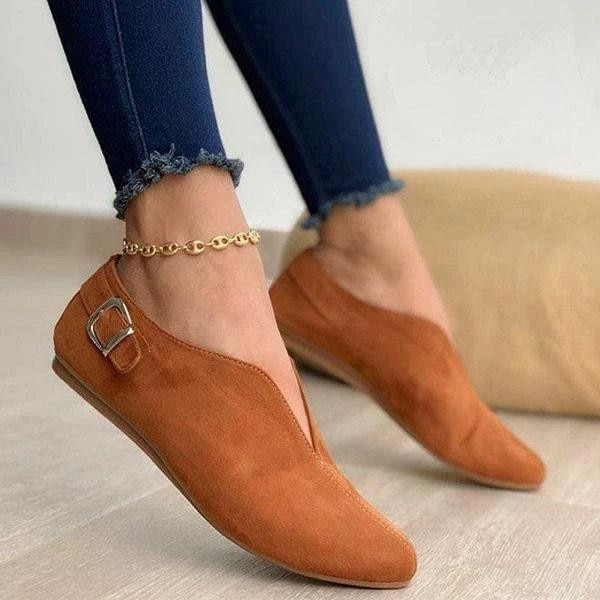 2021 Pointed Toe Suede Women Flats Shoes Woman Loafers Summer Fashion Sweet Flat Casual Shoes Women Zapatos Mujer Plus Size35-43 women slipper gold embroidered animal pattern women flats bow tie decor women shoes cover toe fashion chic suede autumn shoes