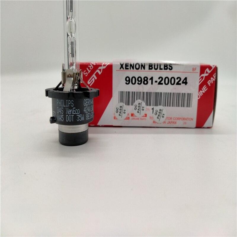 Frete grátis 1pc philips xenon automotivo hid farol lâmpadas d4s 42402 peça genuína para lexus toyota 90981-20024 feito no japão