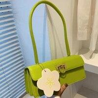 summer travel handbag crossbody bags for women sac female flowers shoulder bag green simple tote designer armpit bag fashion new