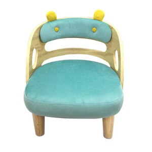 TT Children Chair Couch Reading And Learning Cartoon Children 'S Stool Backrest Solid Wood Table Set