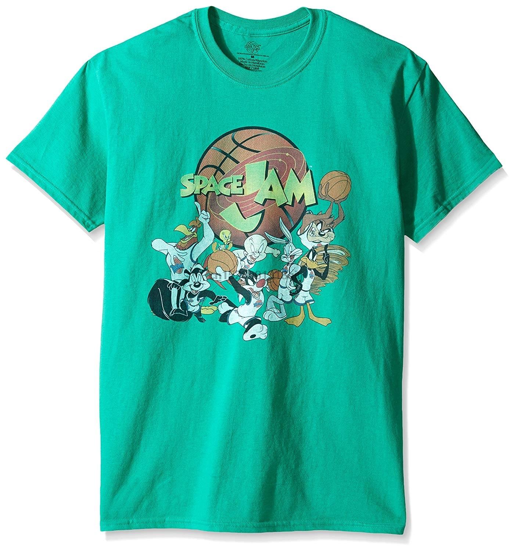Warner Brothers Space Jam Gang T-Shirt Groß und Hoch