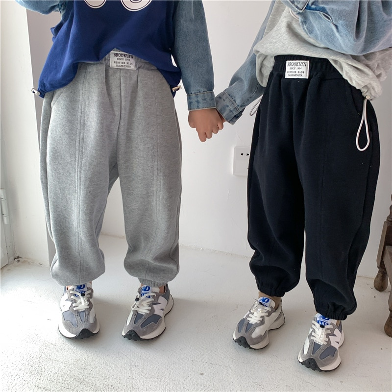 Korean baby girl loose harem pants toddler kids autumn fall sweatpants trackpants sweat track pants