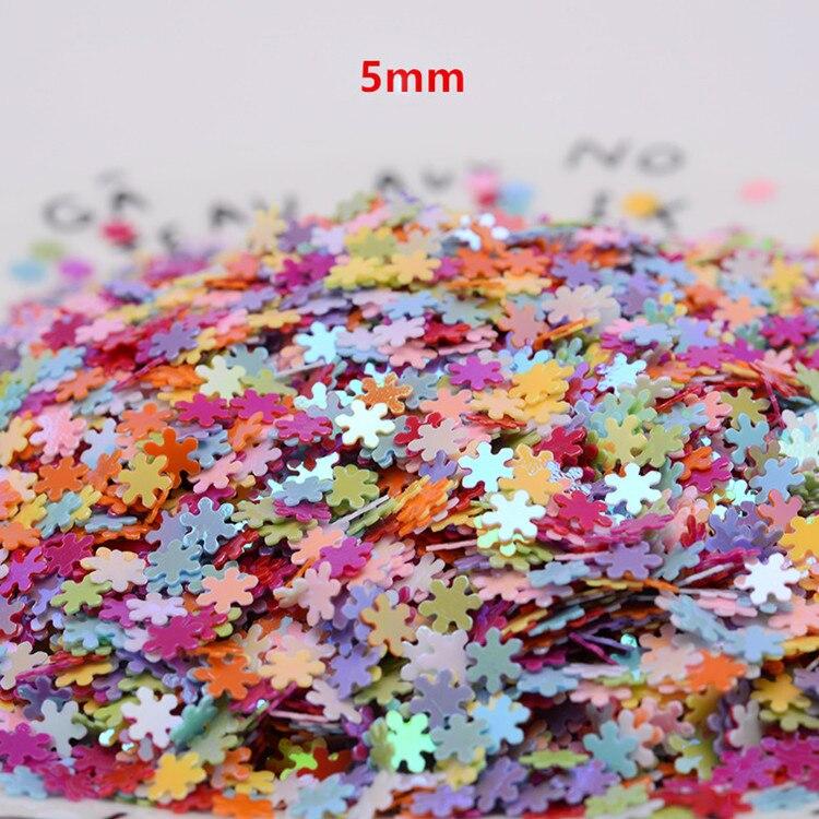 Смешанный размер 50 г 5 мм блестки ПВХ плоские шестиконечные звезды свободные блестки пайетки шитье ремесло DIY скрапбукин DIY кулон SequinTrim