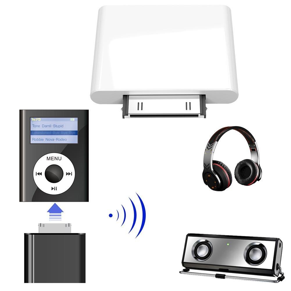 "Transmisor Inalámbrico Bluetooth adaptador de Audio HiFi Dongle para iPod Classic/Touch para auriculares Bluetooth adaptador Block """