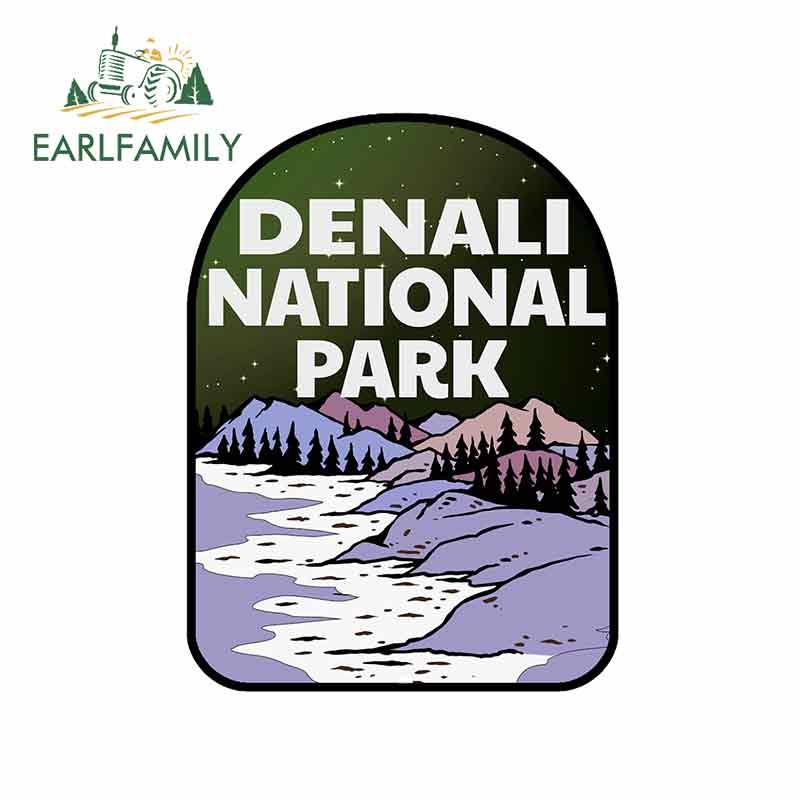 EARLFAMILY, 13cm x 9,8 cm para el Parque Nacional Denali, montañas de...