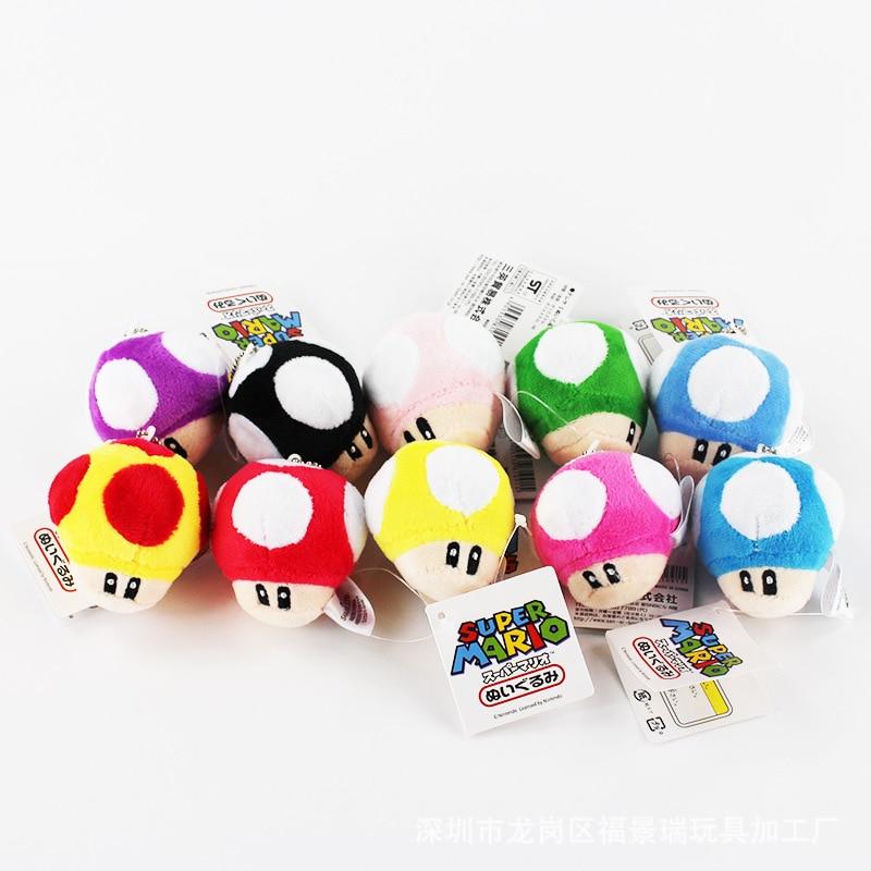 AliExpress - Super Mary series peripheral plush toys Super Mario poison mushroom plush toys baby mushroom small pendant