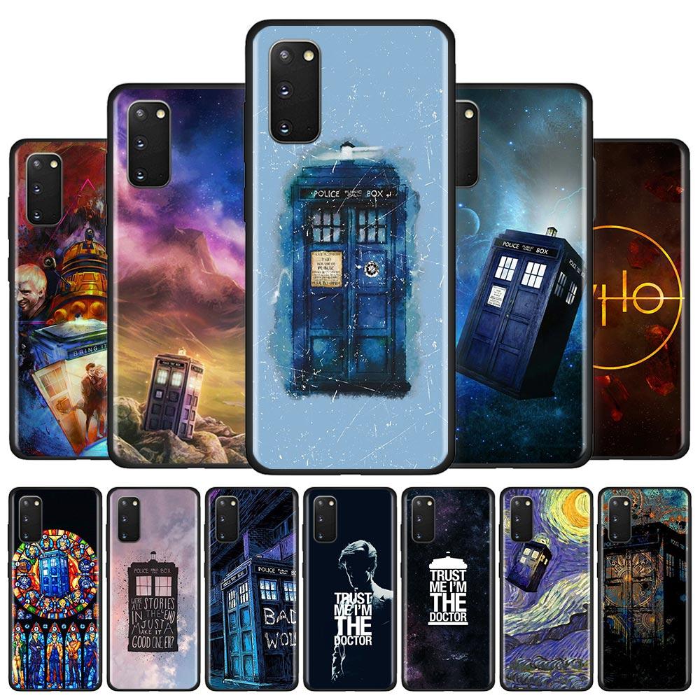 Caso do telefone de silicone para samsung galaxy s10 s20 ultra 5g s10e s10 lite s8 s9 plus s7 borda escudo capa caixa tardis médico que