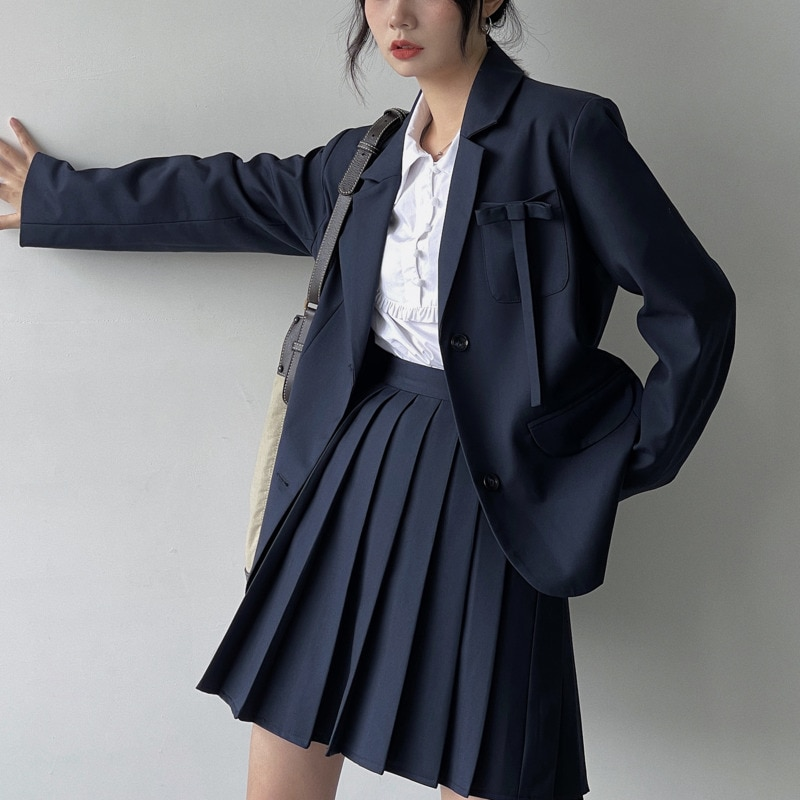 Women's Skirt Suit British Style Women's Suit Pleated Suit 2021 Early Autumn New High Fashion Coat Skirt