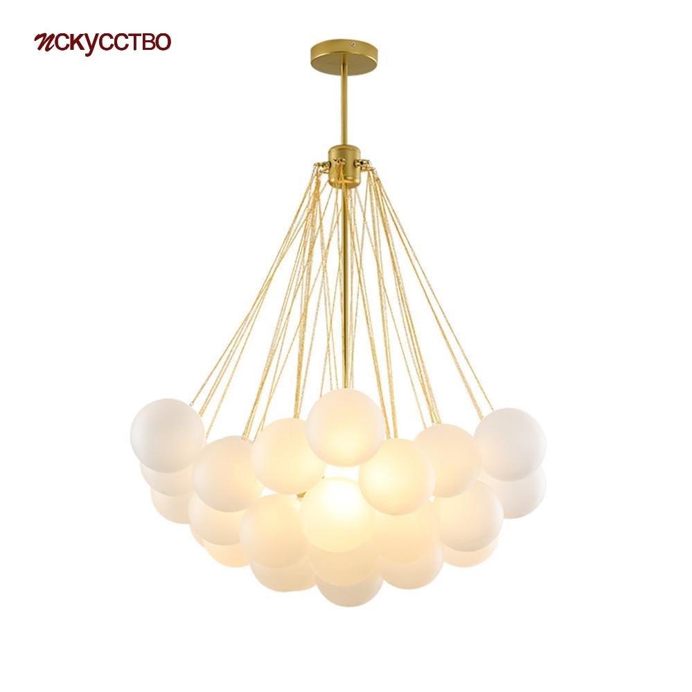 الشمال إيطاليا تصميم ثريا زجاجية بشكل فقاعة لغرفة المعيشة المطبخ الدرج الحديثة Led مصباح معلق آرت ديكو داخلي تركيب المصابيح