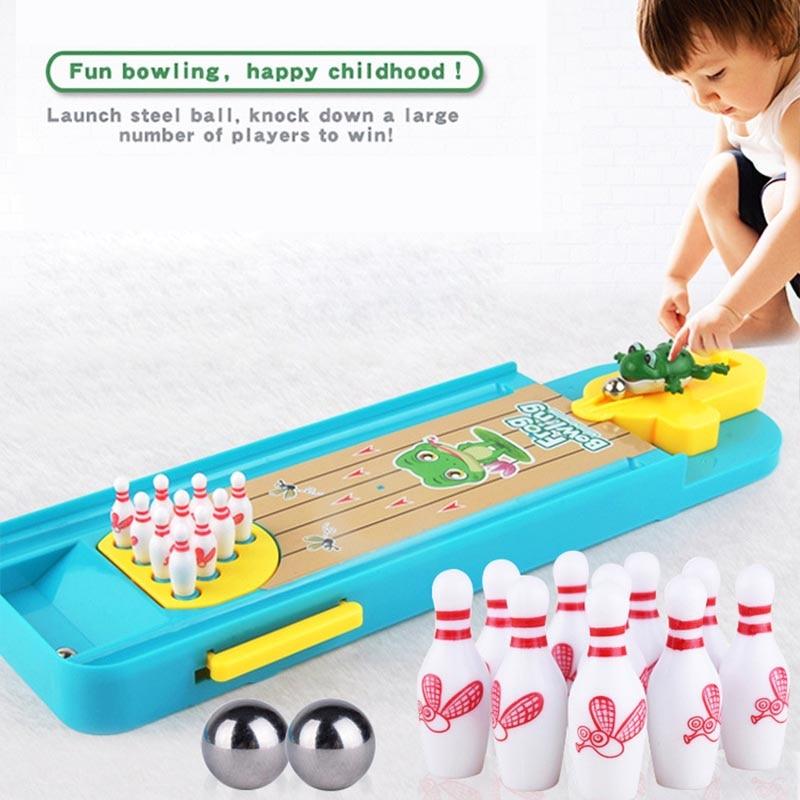 Mini juego de mesa de bolos, divertido juego de mesa interactivo para padres e hijos, juguetes educativos para bebés