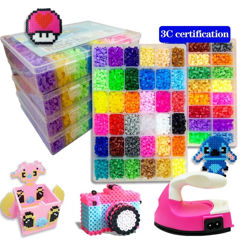 Набор игрушек hama beads 48/72/5 мм, 24/2,6 цветов, Развивающие детские 3D пазлы, игрушки «сделай сам», предохранители, листы для глажки