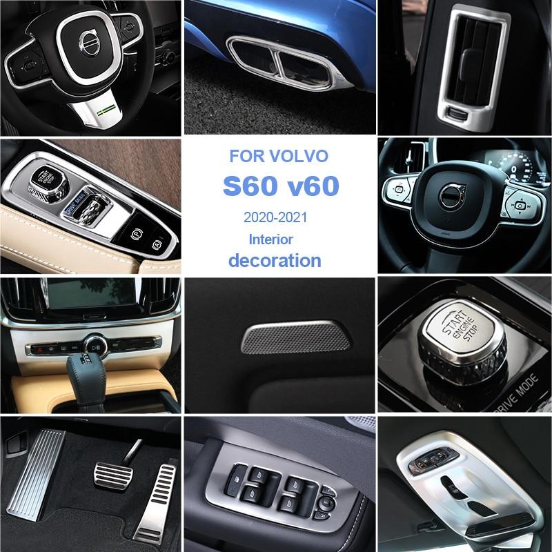 Автомобильный Стайлинг для Volvo s60 v60 2020-2021 украшение/ABS/нержавеющая сталь автомобильная внутренняя отделка полоса автозапчасти автомобильна...