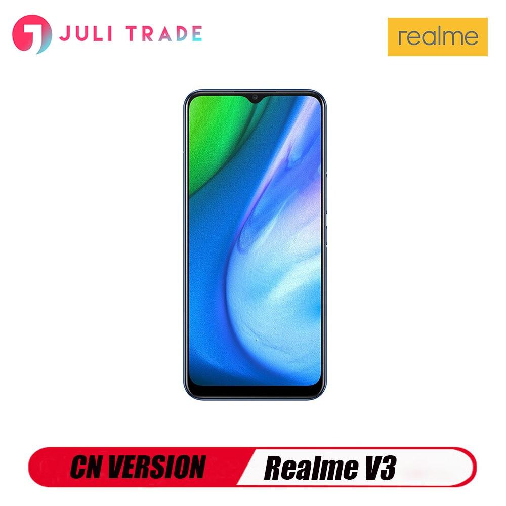 Перейти на Алиэкспресс и купить Realme V3 5G CN версия смартфона Google Play 5000 мА/ч, Батарея 13MP тройной Камера Dimensity 720 Octa Core
