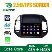 octa core android 10 0 car dvd gps navigation player deckless car stereo for mitsubishi pajero v73 2004 2011 radio wifi