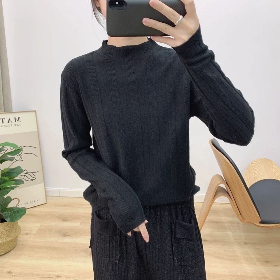 Cashmere /Non Plush Half High Collar Knitted Sweater with Bottom Layer for Women 's Fall / Winter 2020 New Loose and Versatile S enlarge