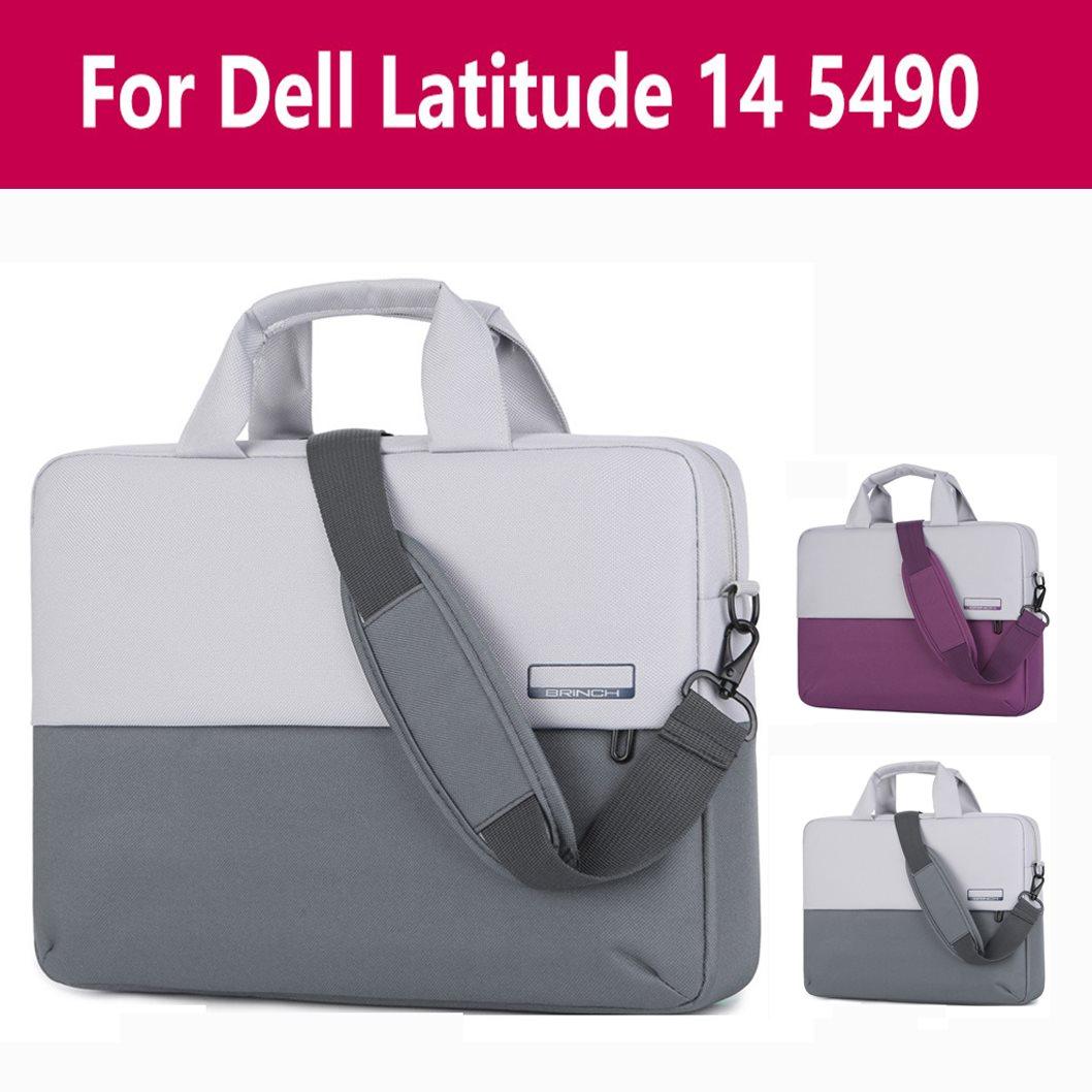 Maletín de negocios para hombre de gran capacidad, bolso de hombro para portátil, bolso bandolera para ordenador portátil Dell Latitude 14 5490