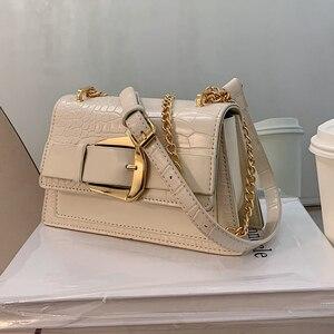 Сумка кросс-боди с клапаном и крокодиловым узором, новинка 2020, модная качественная женская дизайнерская сумка из искусственной кожи, сумка-...