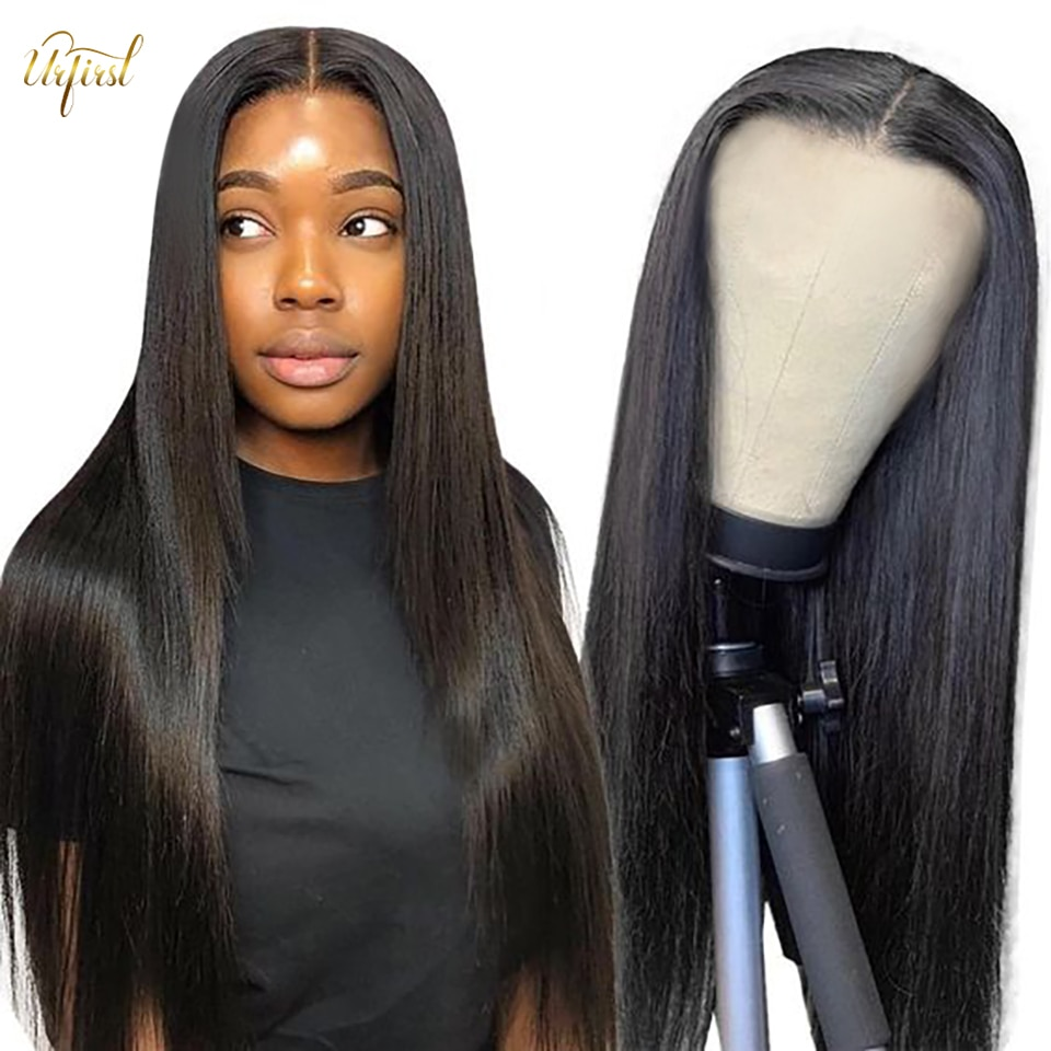 28 30 Inch Bone Straight Lace Front Wig 250Density Brazilian Straight Lace Frontal Wigs For Women Lace Front Human Hair Wig Remy