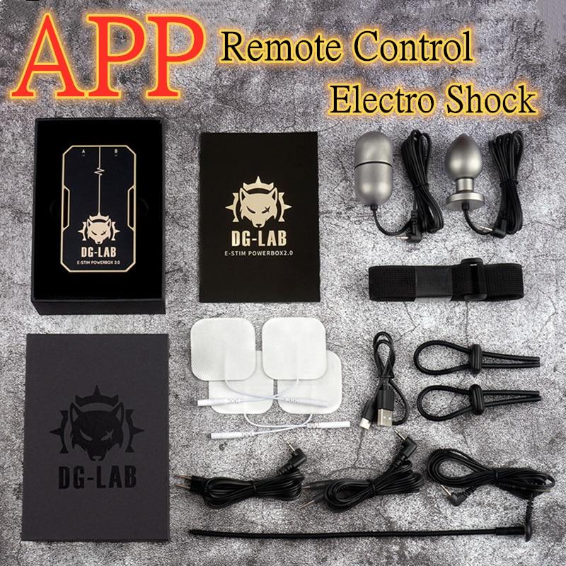 DG-LAB Electro Shock-جهاز تحكم عن بعد مع إخراج مزدوج ، تطبيق للتحكم عن بعد ، صندوق طاقة SM ، آلة صدمة كهربائية ، ألعاب جنسية للأزواج