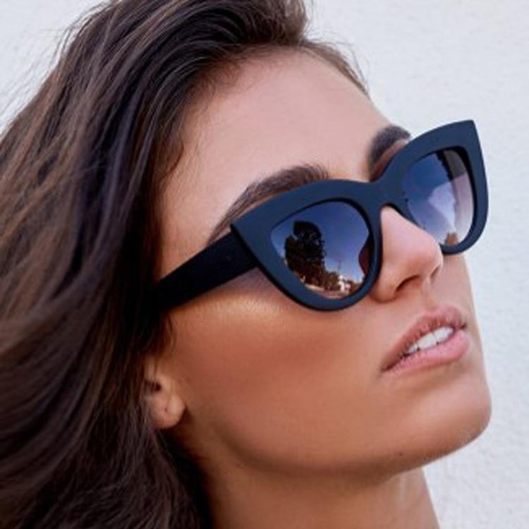 JIFANPAUL Brand Designer Vintage Cat Eye Sunglasses Female Trendy Glasses Personality Cat-eye Sungla