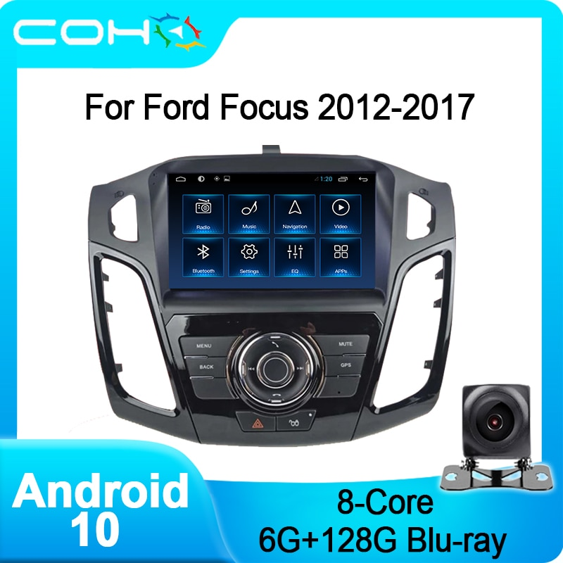 COHO For Ford Focus 2012-2017 Car Multimedia Player Gps Navigation Autoradio Android 10.0 Octa Core