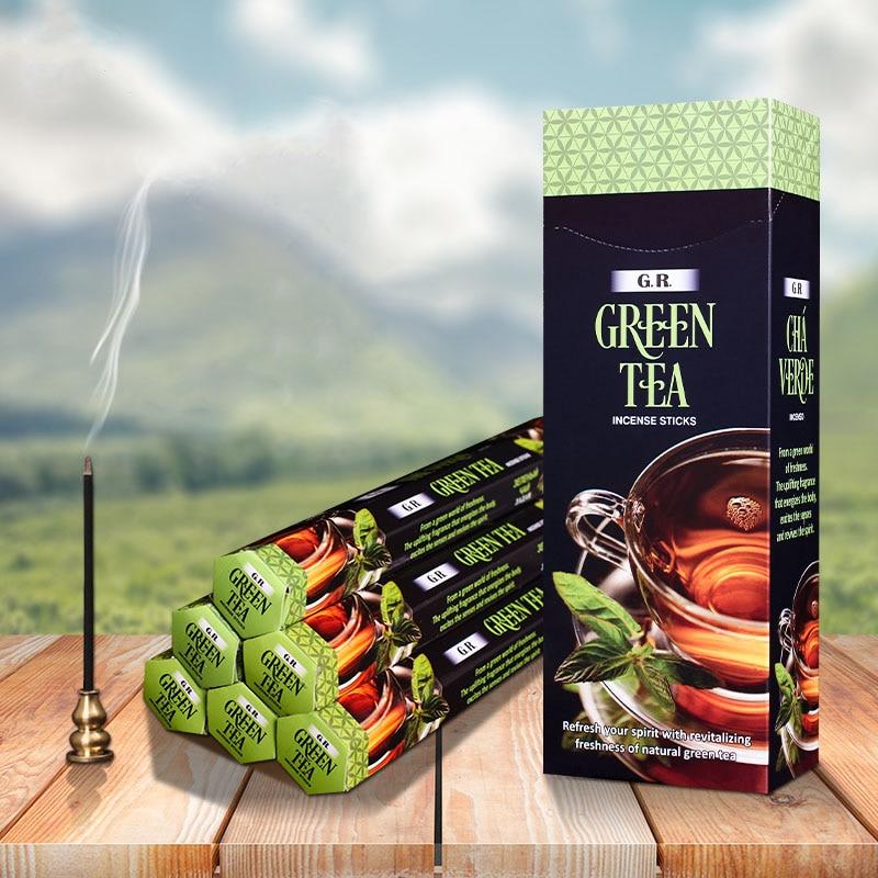 Vara de ar Caixas Pequenas Caixa Grande Índia Incenso Natural Chá Verde Aroma Limpo Especiarias Interior Ambientador Aromaterapia 6 –