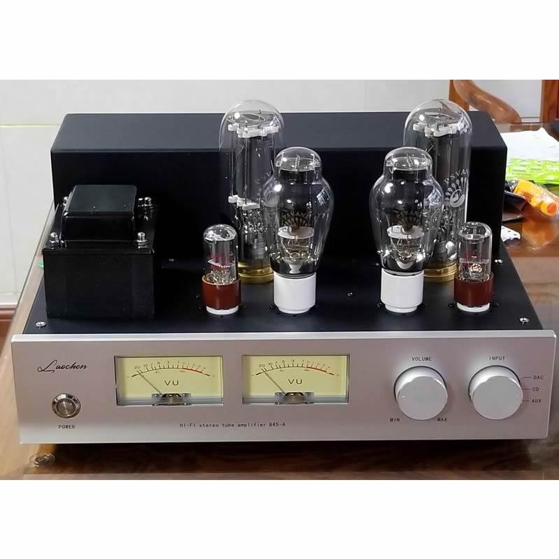 300B push 845 high power class A tube amplifier, 300B-SE × 2,845 × 2, 6SN7 × 2, output power 25W × 2 (RMS 8Ω), 18Hz--35KHz