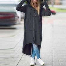 Gabardina para mujer 2019 informal con cremallera sólida de terciopelo con capucha prendas de vestir de moda con hebilla de bolsillo de estilo callejero abrigo femenino de talla grande