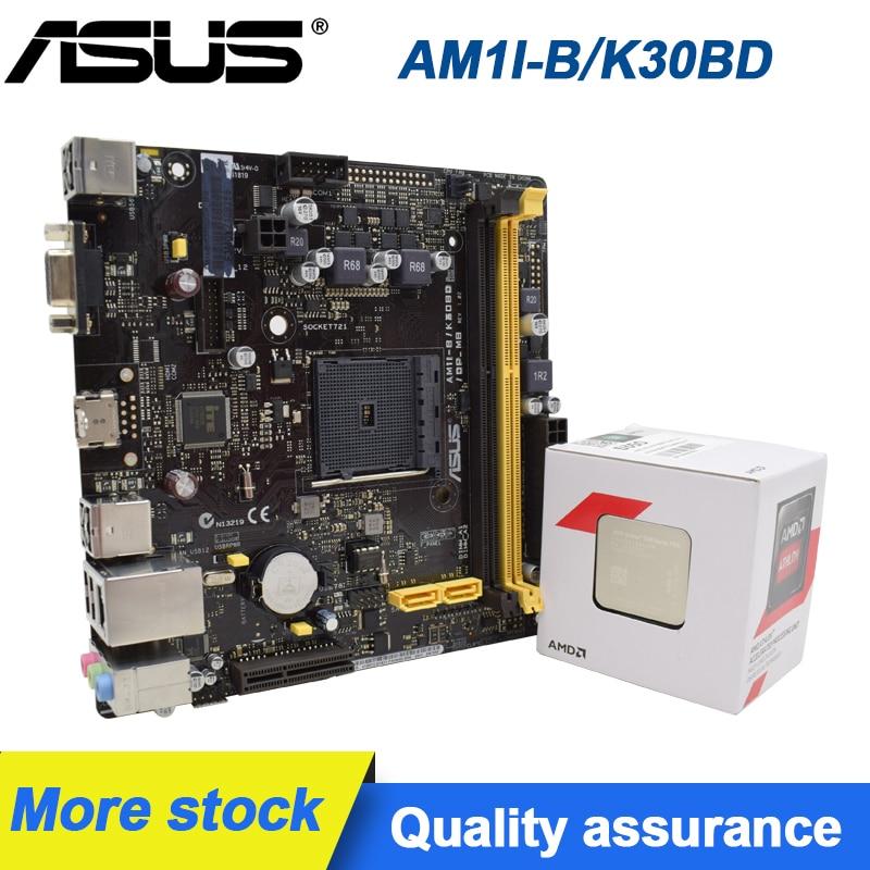 ASUS AM1I-B // K30BD/DP_MB mini 17*17 سنتيمتر AM1 ITX قطعة اللوحة المتاحة مع x4 5350 وحدة المعالجة المركزية الأصلي اللوحة الأم سطح المكتب عدة