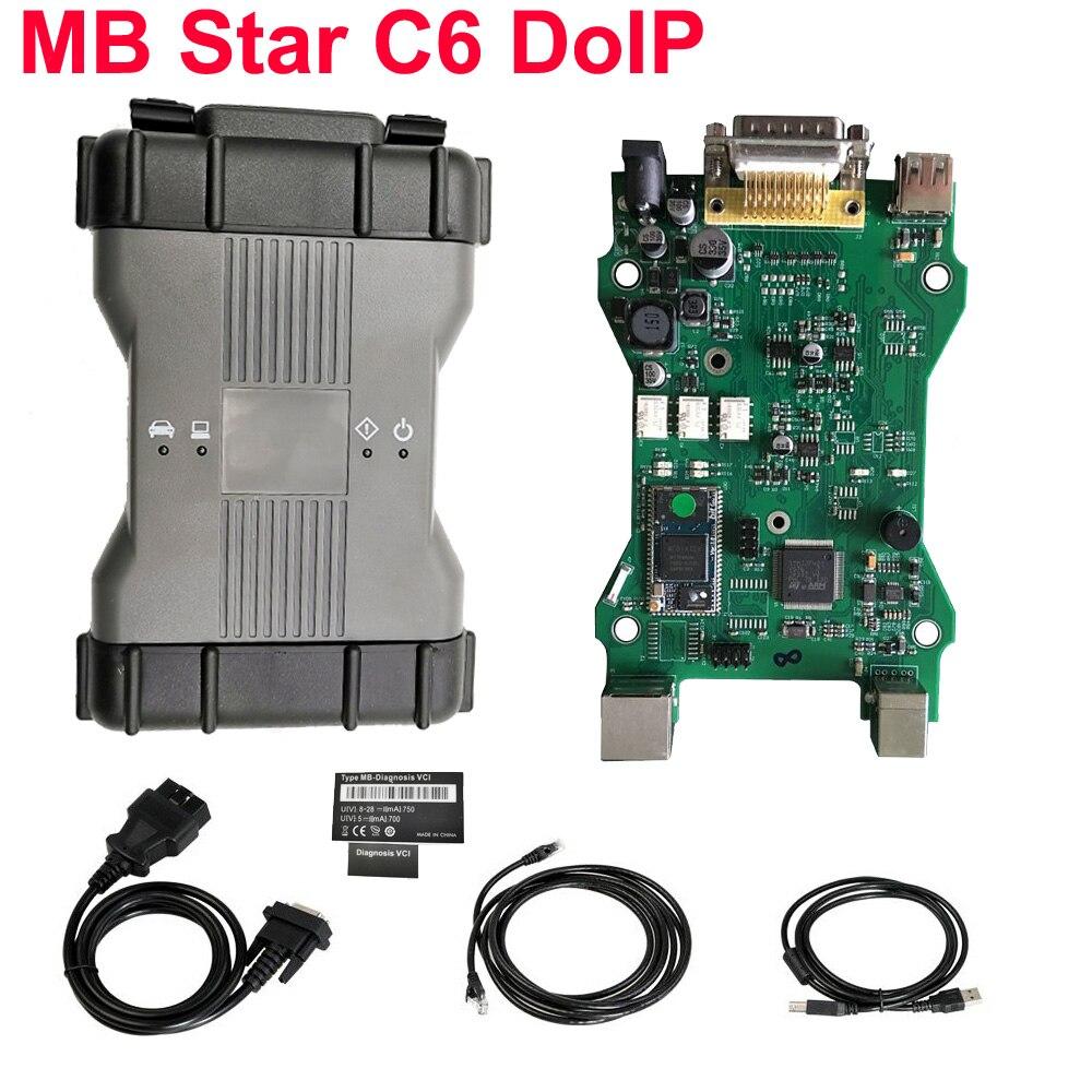 Mejor DoIP Mb star C6 diagnóstico VCI multiplexor conjunto completo con V2020.06 Software DAS apoyo coches viejos WiFi