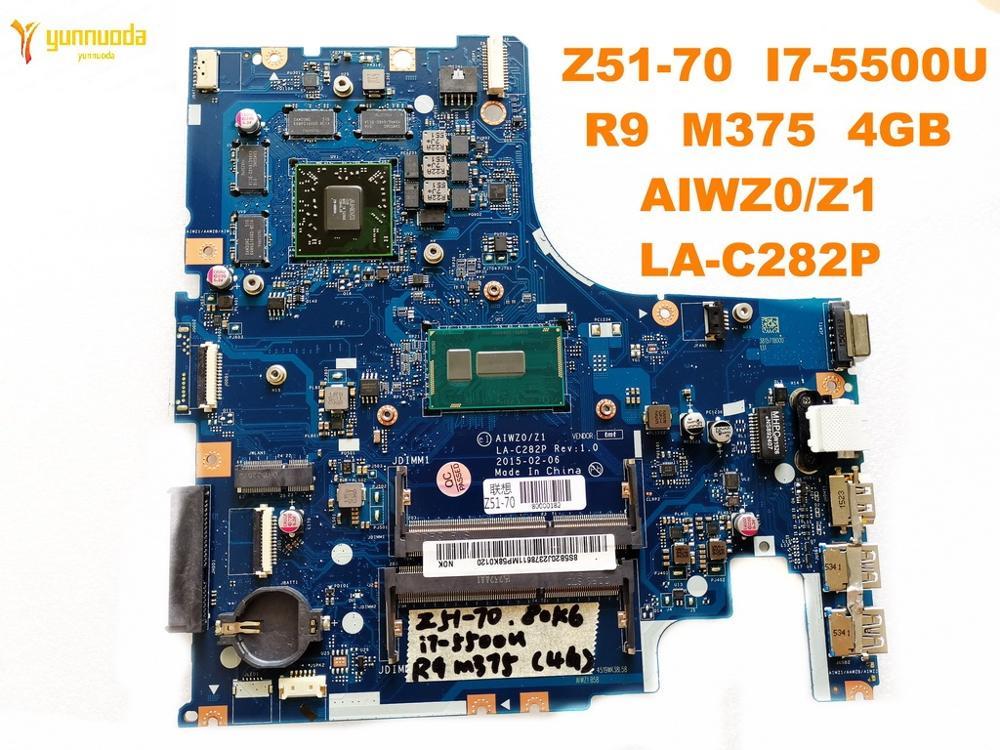 الأصلي لينوفو Z51-70 كمبيوتر محمول motherboardZ51-70 I7-5500U R9 M375 4GB AIWZ0Z1 LA-C282P اختبار جيد شحن مجاني