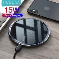 Беспроводное зарядное устройство KUULAA Qi, 15 Вт, зарядное устройство для телефона xiaomi mi 11 10s, беспроводная зарядная площадка для iphone 12 11pro max mini x ...