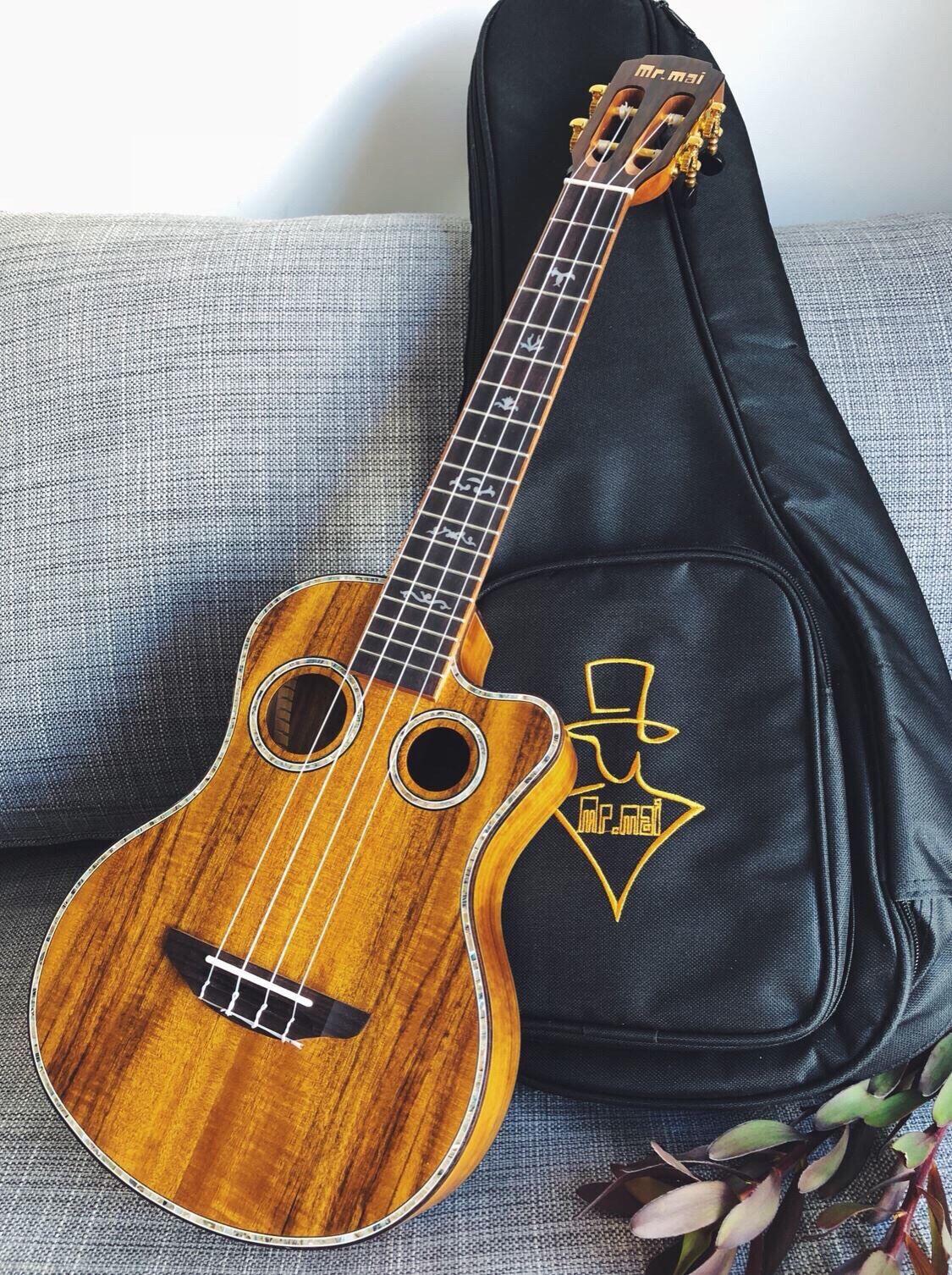 Mr.mai ML-T Tenor Ukulele 26 inch Ukulélé Koa Wood Mini Hawaii Guitar Double Sound Hole  Ukeleles With Gig Bag/Tuner/Strap/Capo enlarge