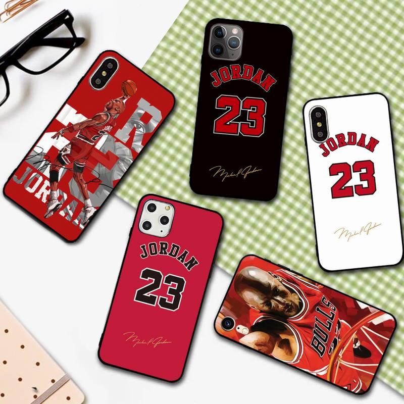 Yndfcnb basquete 23 jordan caso de telefone para o iphone 11 12 pro xs max 8 7 6s plus x 5S se 2020 xr capa