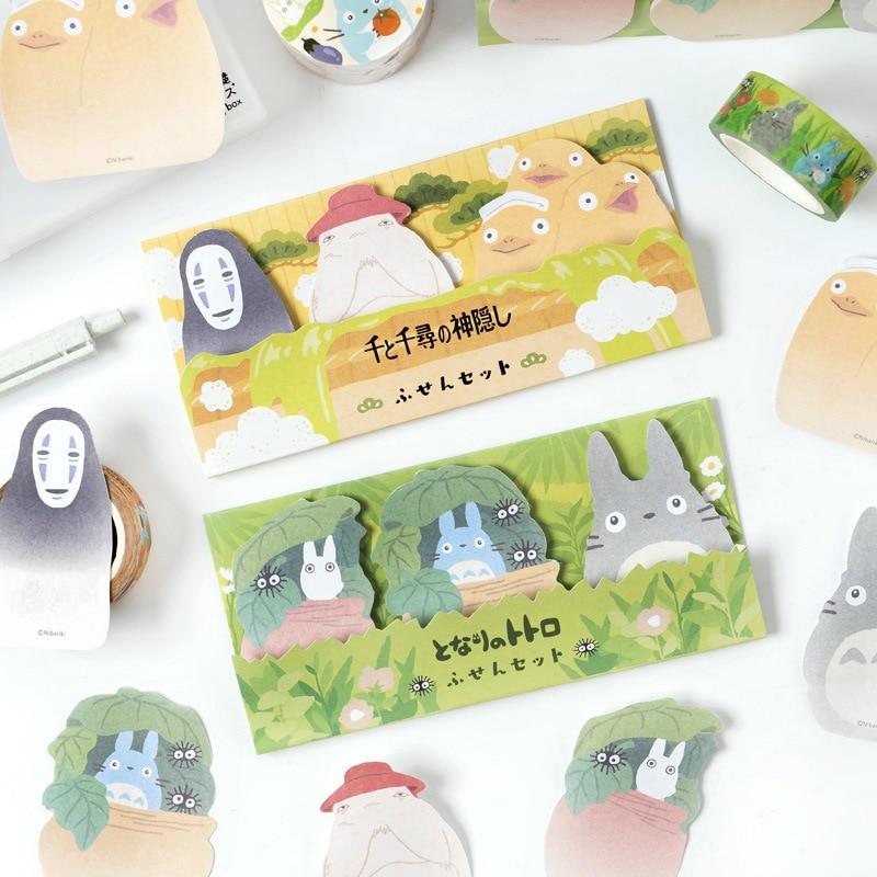 Cartoon Cute Kawaii No Face Man Totoro Sticky Notes Memo Pad Diary Stationary Flakes Scrapbook Decorative N Times Sticky