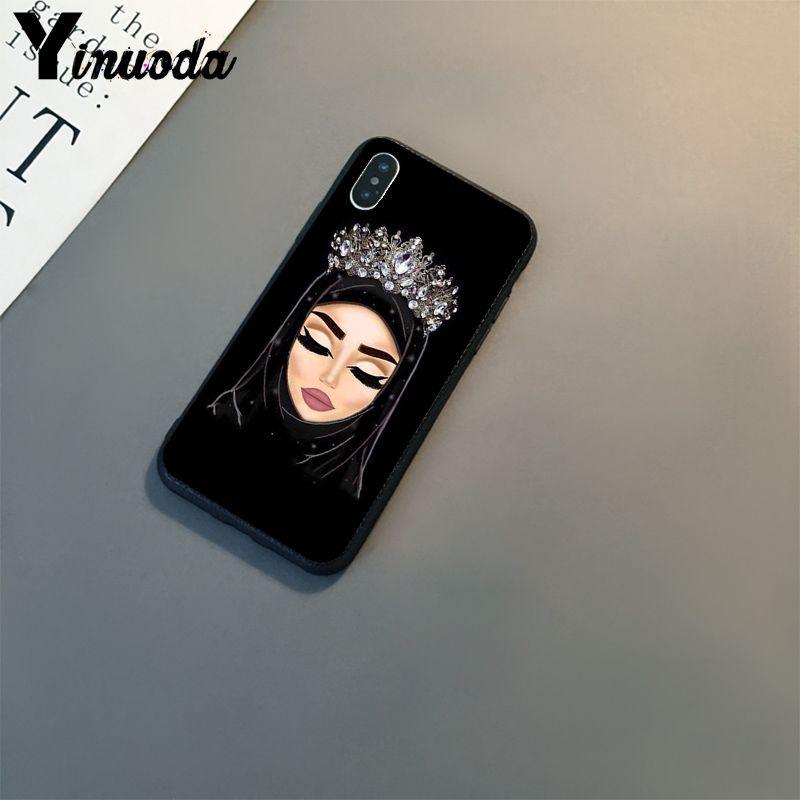 Papel tapiz de Ojos de chica islámica musulmana, carcasa de teléfono negra de TPU para Apple IPhone 11 8 7 6S Plus X XS MAX 5 5S SE XR 11 Pro