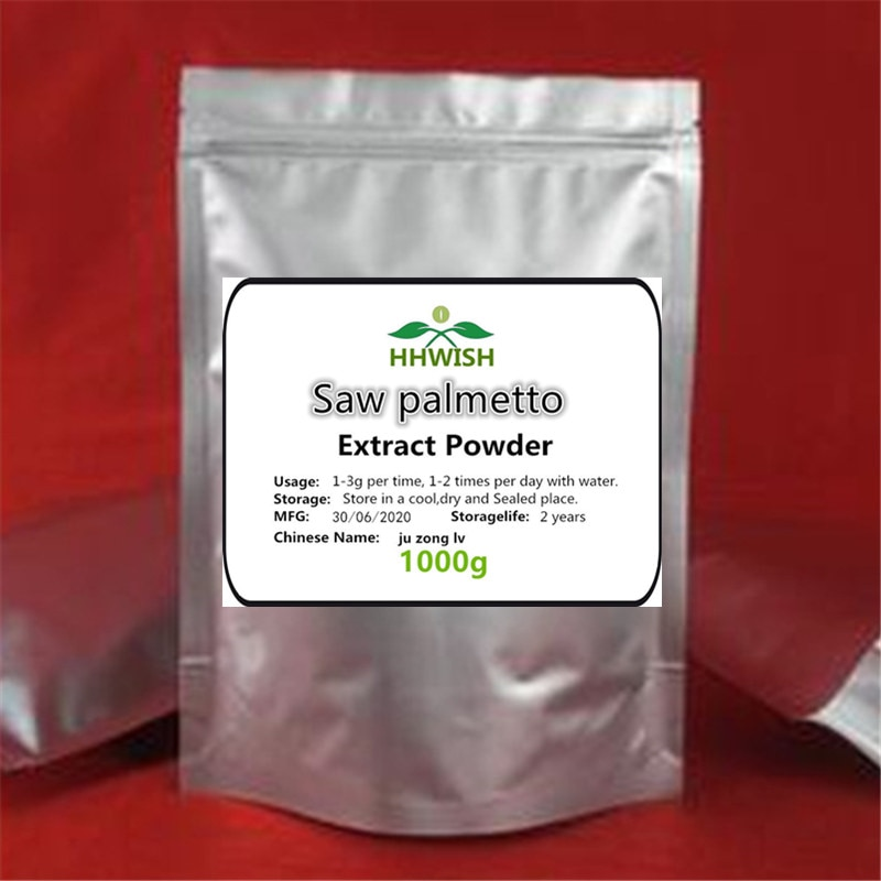 1000g100% 天然高品質ノコギリヤシエキス粉末、serenoaアオイゴケノコギリヤシ、チュ宗lv、効果的な前立腺過形成の阻害