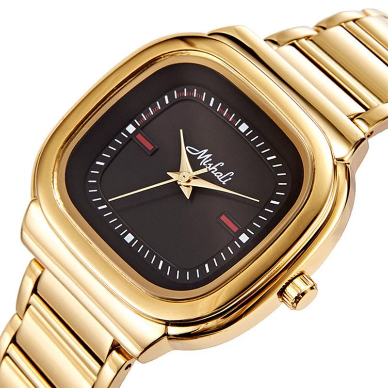 Square Watches Women Top Brand Ladies Dress Quartz Watch Bracelet Simple Gold Luxury Women Watches Clock +Box Relogio Feminino