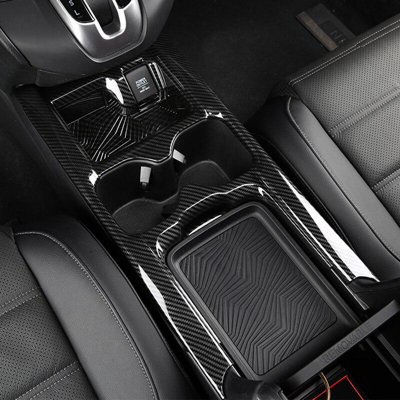 Für Honda CRV CR-V 2017-2019 Zentrale steuerung tasse halter dekorative rahmen dekoration abdeckung innen änderung zubehör