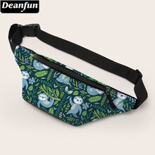 Deanfun Waist Bag Printing Cute Sloth Fanny Pack Bum Bag with Adjustable Belt Gift 18005