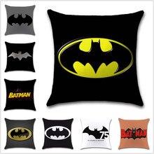 75 ans Batman logo signe marque dessin animé housse de coussin décoration chaise maison canapé siège ami enfants dessin animé chambre cadeau taie doreiller